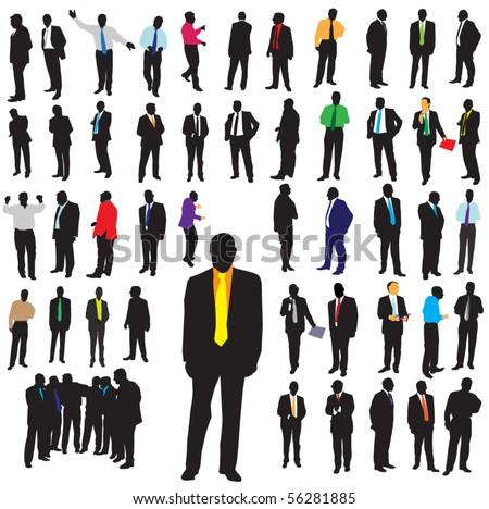 Business man concept - stock vector