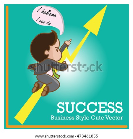 business man cute cartoon vector character