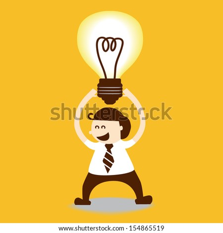 Business man get new idea, EPS10 vector format