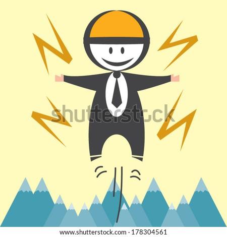 Business man got the power  - stock vector