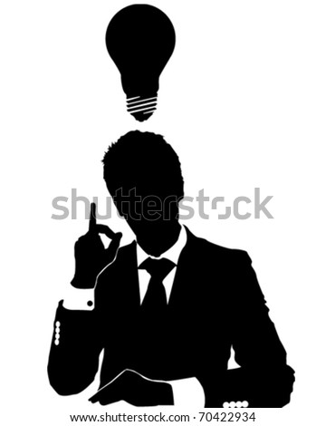 Business Man Idea - stock vector