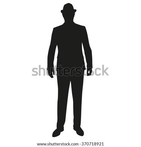 Man Standing Silhouette People Stock Vector 367913519 ...