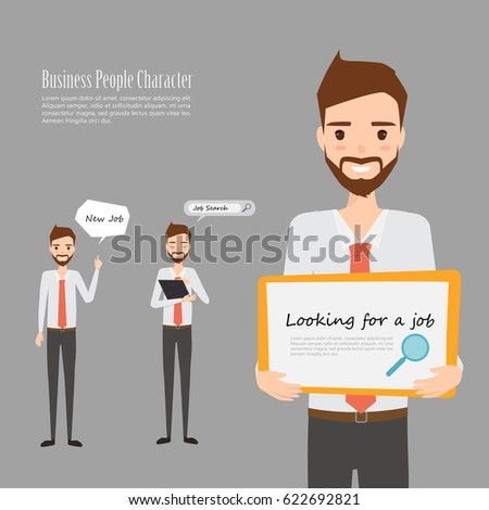 Vector illustration businessman cartoon character stock for Character designer job