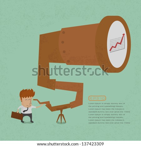 Business man looking to success, eps10 vector format - stock vector