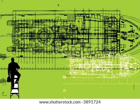 business man on ship - stock vector