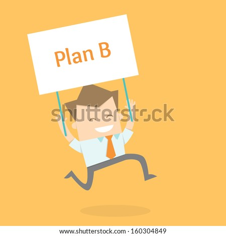 business man proactive new strategy - stock vector