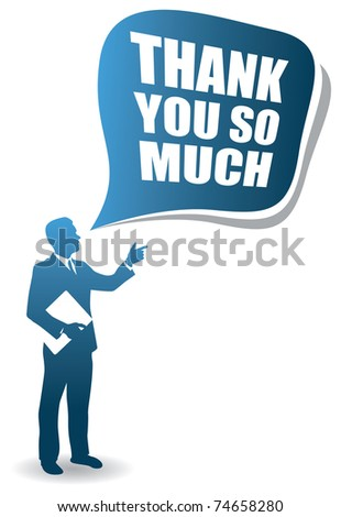 business man quote - stock vector