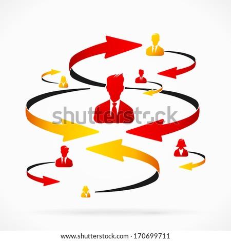 Business man receiving negative feedback - stock vector