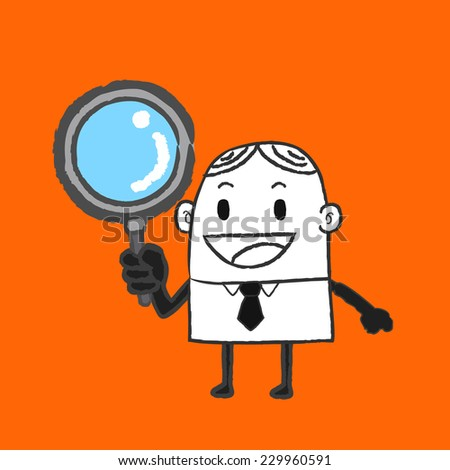 Business man search - stock vector