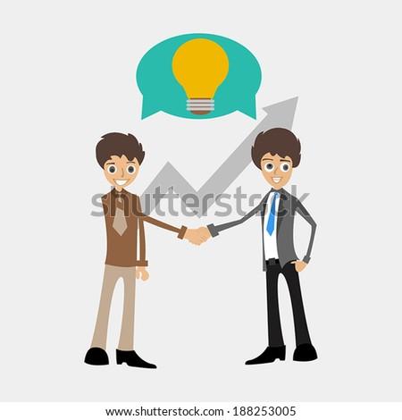 Business man Share idea - stock vector
