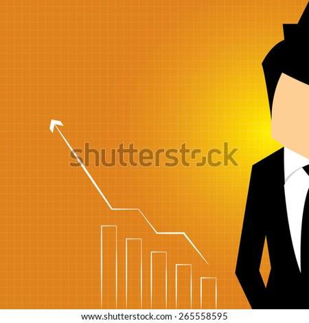 business man stock investor, vector illustration - stock vector