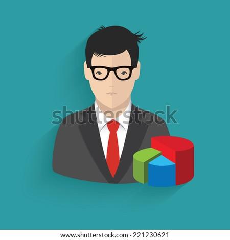 Business man symbol,clean vector - stock vector