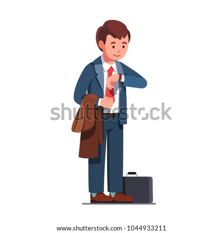 [fb] les angélus // jola&monsiame Stock-vector-business-man-wearing-necktie-suit-and-holding-a-coat-standing-and-looking-at-wrist-watch-waiting-1044933211