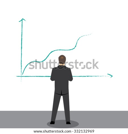 Business man with planning concept-vector