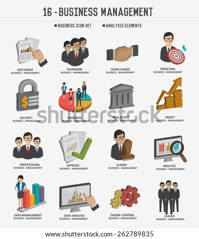 Business management and business marketing icons,clean vector - stock vector