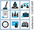 business management and human resource icon set - stock photo
