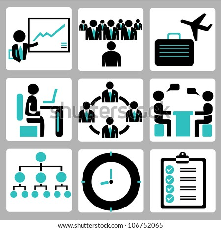 business management and human resource management - stock vector