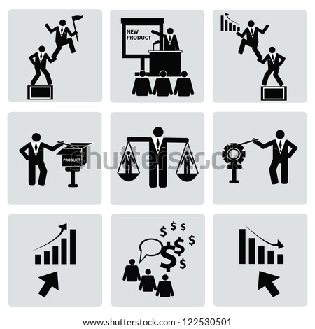 Business management and Human resource,organization,icon set,Vector - stock vector