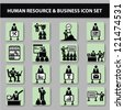 Business,management and human resources icons,Vector - stock vector