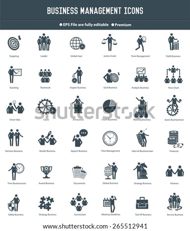 Business management,Human resource icons,black version,clean vector - stock vector