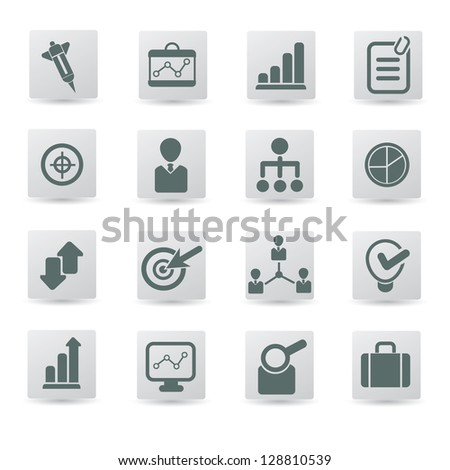 Business,management,icon set,vector - stock vector