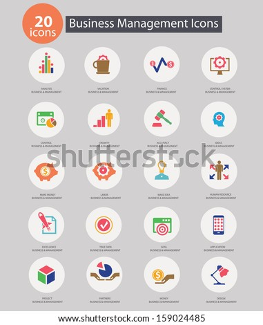 Business Management icons,Colorful version,vector - stock vector