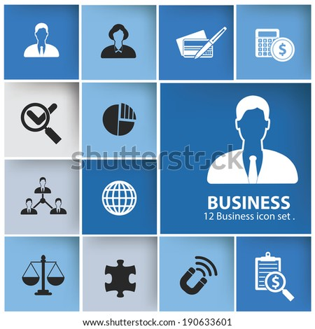 Business management icons icons,vector - stock vector
