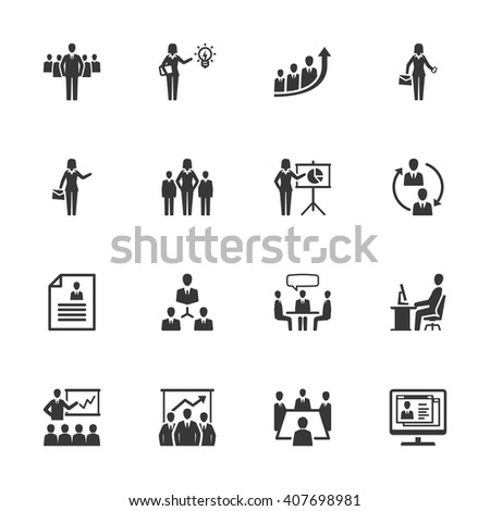 Business Management Icons - Set 1 - stock vector