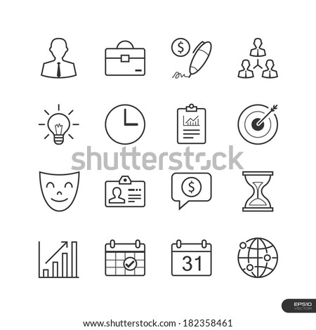 Business management icons set - Vector illustration - stock vector