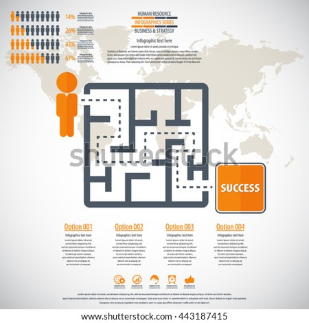 Business management, strategy or human resource infographic. EPS 10 vector.  - stock vector