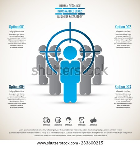 Business management, strategy or human resource infographic.EPS 10 vector. Can be used for any project - stock vector