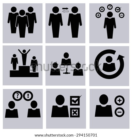 business / management vector icons - stock vector