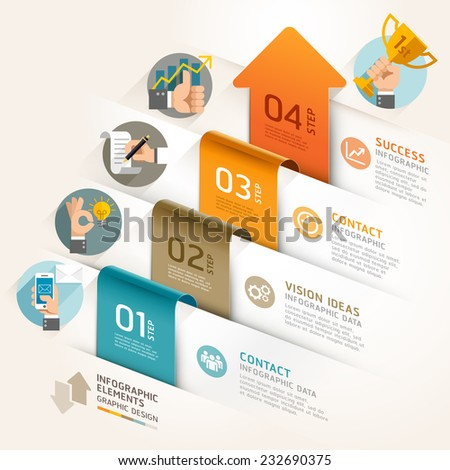 Business marketing arrow timeline template. Vector illustration. can be used for workflow layout, banner, diagram, number options, web design, infographic template. - stock vector
