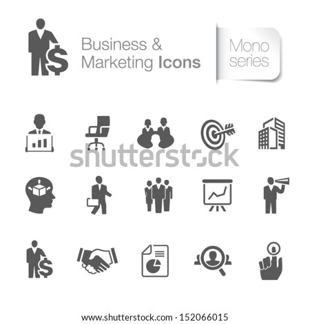 Business & marketing related icons - stock vector