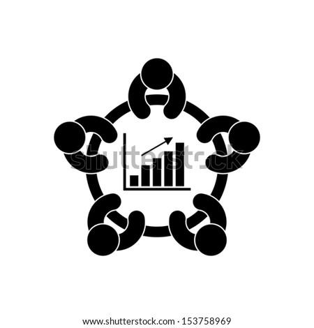 business meeting - stock vector