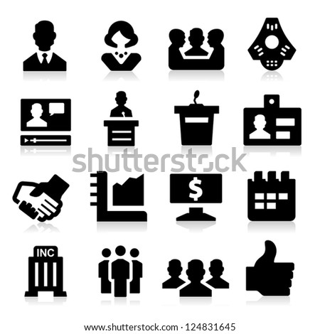 Business & Meeting Icons - stock vector