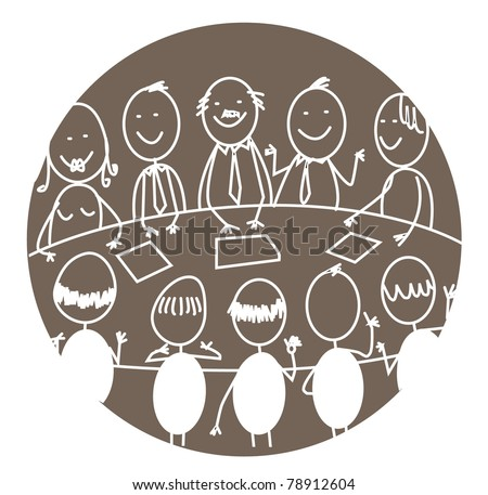 business meeting teamwork - stock vector