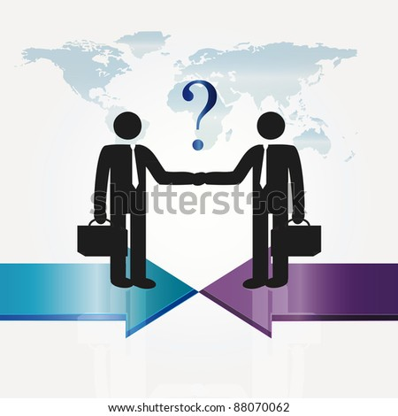 Business meeting two important persons - abstract concept - stock vector