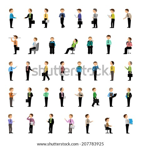 Business Men - Isolated On White Background - Vector Illustration, Graphic Design Editable For Your Design.