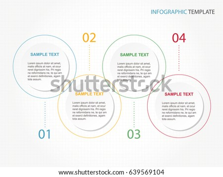 Business Minimal Infographic Template  Steps Stock Vector