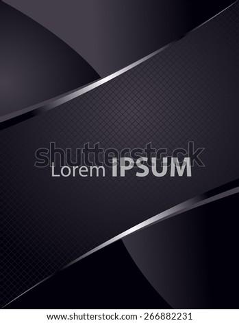 Business modern cover, easy all editable - stock vector