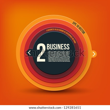 Business. Modern Design template. Can be used for infographics - stock vector