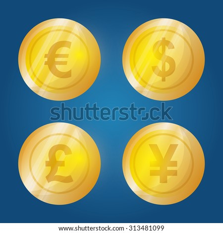 Business, money profits and global economy, vector illustration - stock vector