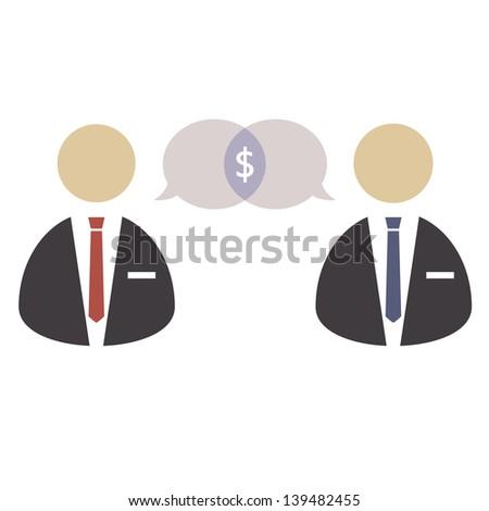 Business negotiations/Negotiations vector - stock vector
