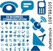 business network & communication icons set, vector - stock vector