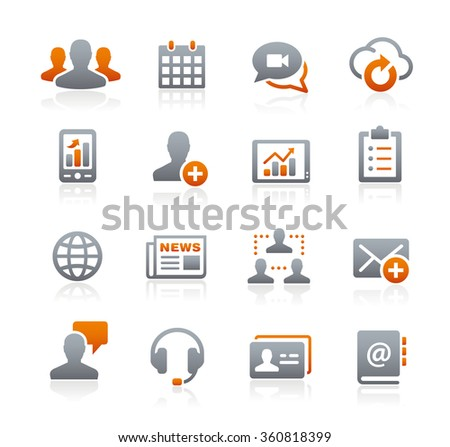 Business Network Technology // Graphite Series - stock vector