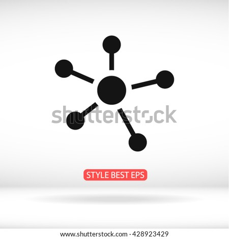Business  Network vector icon - stock vector