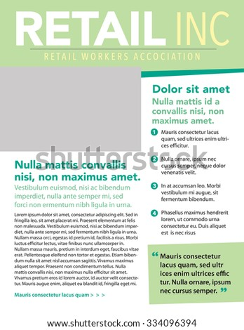 Business newsletter template list pull quote stock vector royalty business newsletter template with list and pull quote wajeb Images