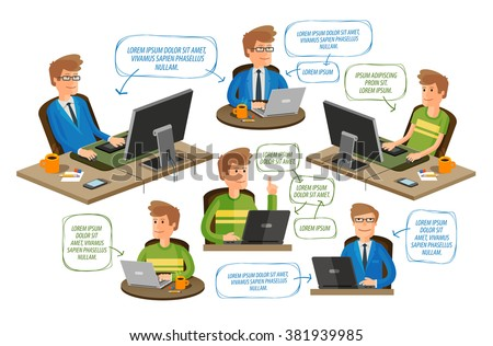 business, office, education icons set. vector illustration - stock vector