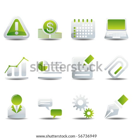 Business & office icons set - stock vector